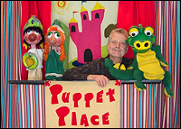 Picture of Mark Nichols with Puppets